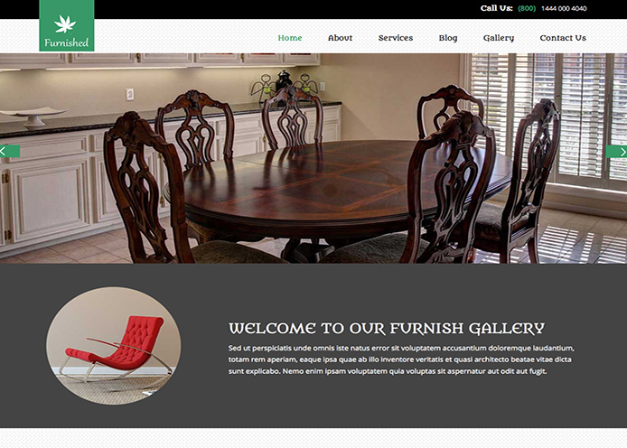 Responsive Furniture Store Website